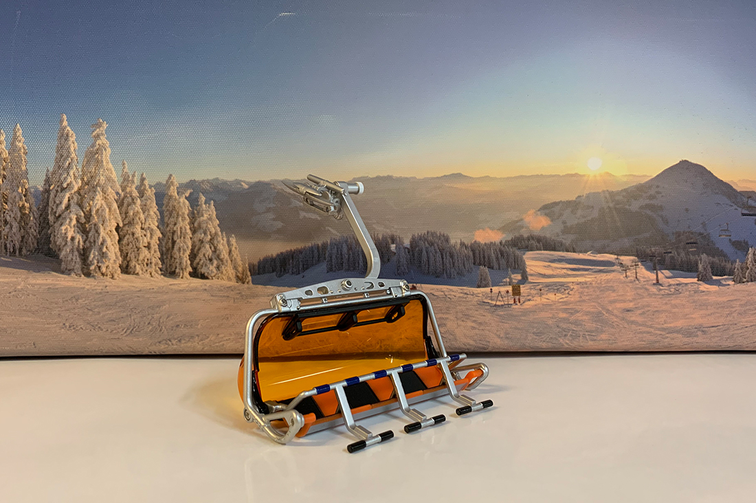 SKIWELT SESSELLIFT BUBBLE ORANGE/SCHWARZ 0